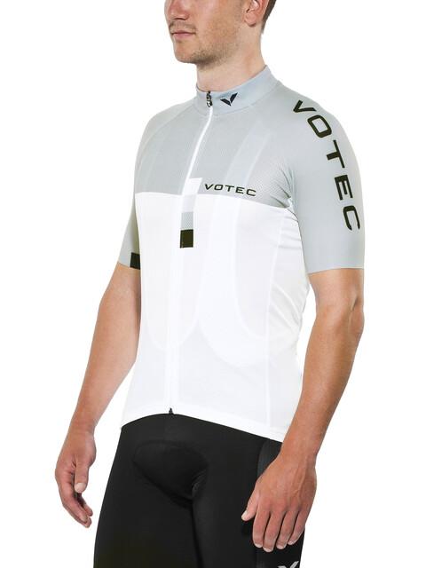 VOTEC EVO Race Koszulka kolarska, krótki rękaw Mężczyźni szary/biały
